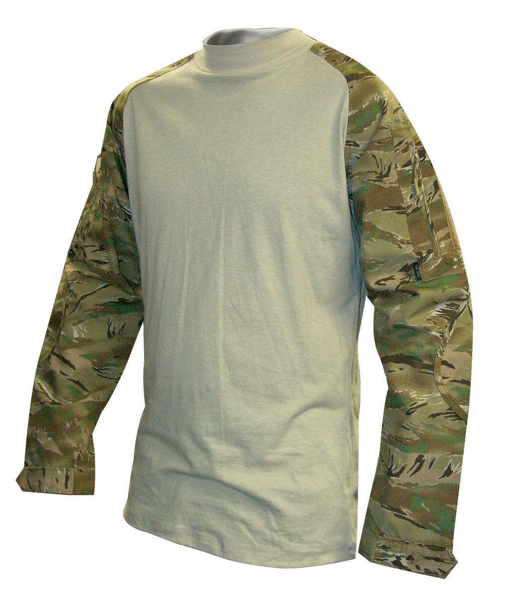 All Terrain Tiger Stripe Camo Tactical Response Combat Shirt by TRU-SPEC 2556
