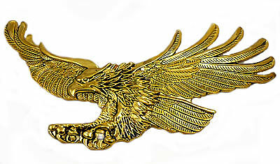 """Screaming Eagle emblem, Antique gold-Left 7 """""""
