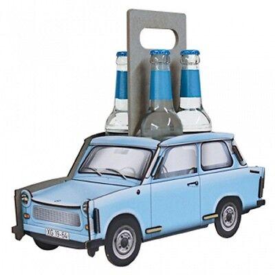 Werkhaus Flaschenträger 4er Trabant Kristallblau