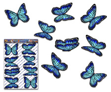 Butterfly Car Stickers Blue Monarch Animal Large Vinyl Decal Pack St028bl3