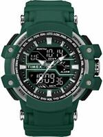 Timex Men's Tactic Big Combo 53mm Marine Green/Gray Resin Strap Watch