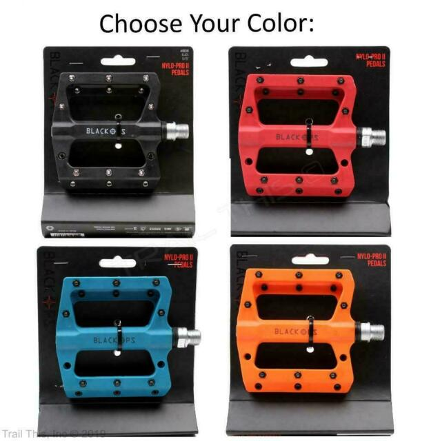 """Black Ops Nylo-Comp Pedals 1//2/"""" Black"""