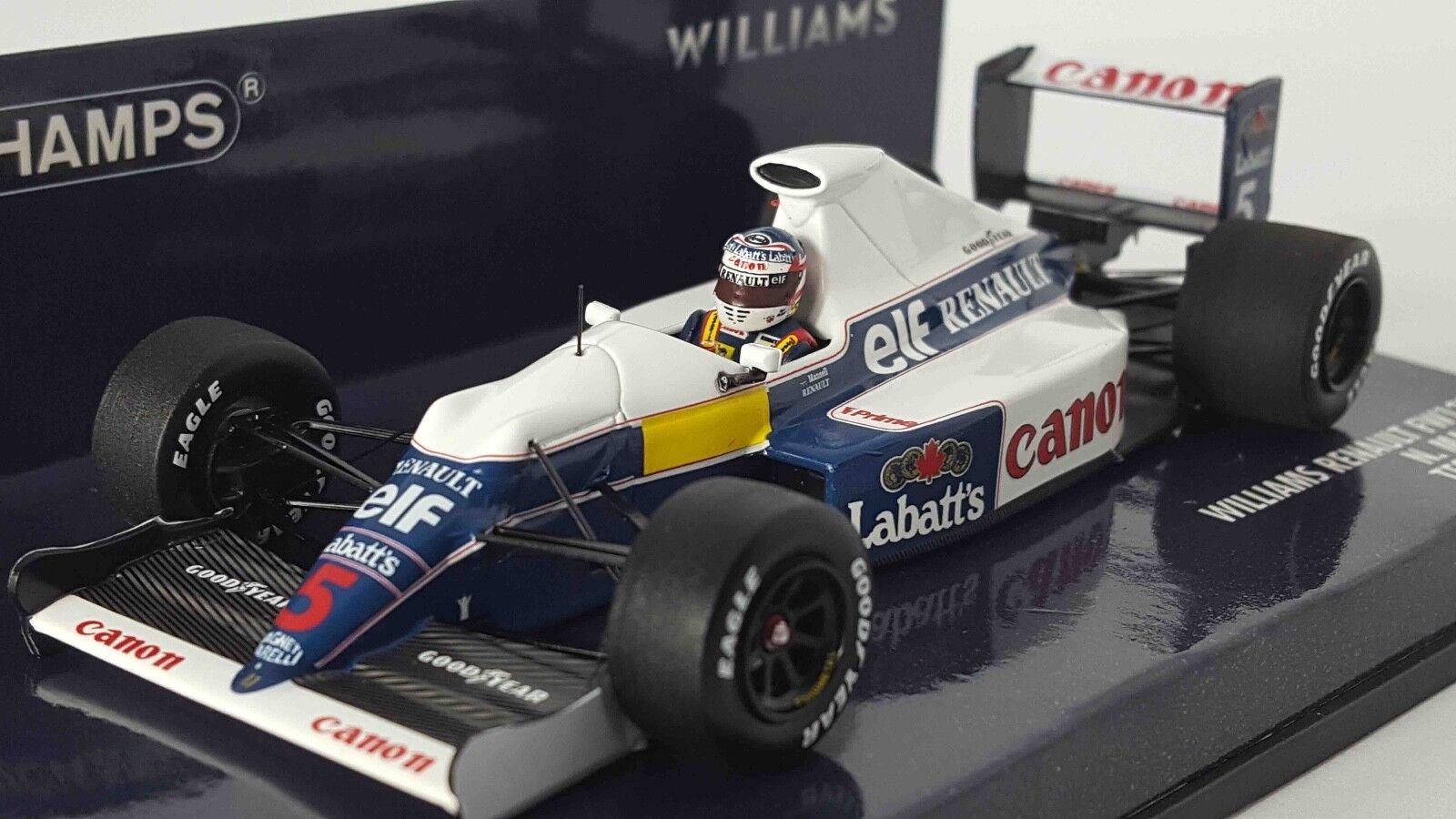 Minichamps 437910105 1 43 Williams FW13B Nigel Mansell sesión de prueba F1 Modelo