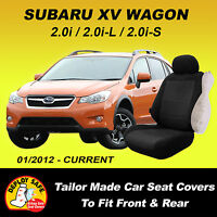 Car Seat Covers For Subaru Xv Front & Rear 01/2012 - Current Black Airbag Safe