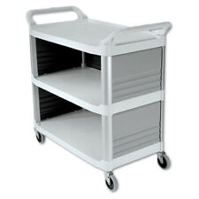 Rubbermaid Commercial 4093cre Xtra 300 Lbs 3 Shelf Utility Cart Off White New