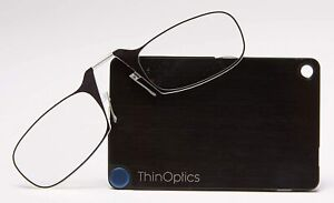 Thinoptics - Ultra Thin Reading Glasses Credit Card case 1.0,1.5,2.0,2.5 Optics