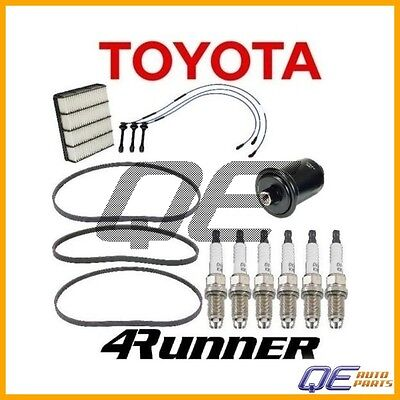 To 8//04 Tune Up Kit Filters Plugs Wire Belt for Toyota Tundra V6; 3.4L 2000-2004