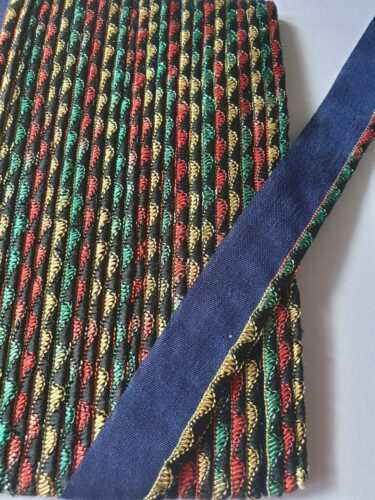 5mm Embroidered PIPING Insertion Trim Flanged Bias Polyester Cotton Multi Colour