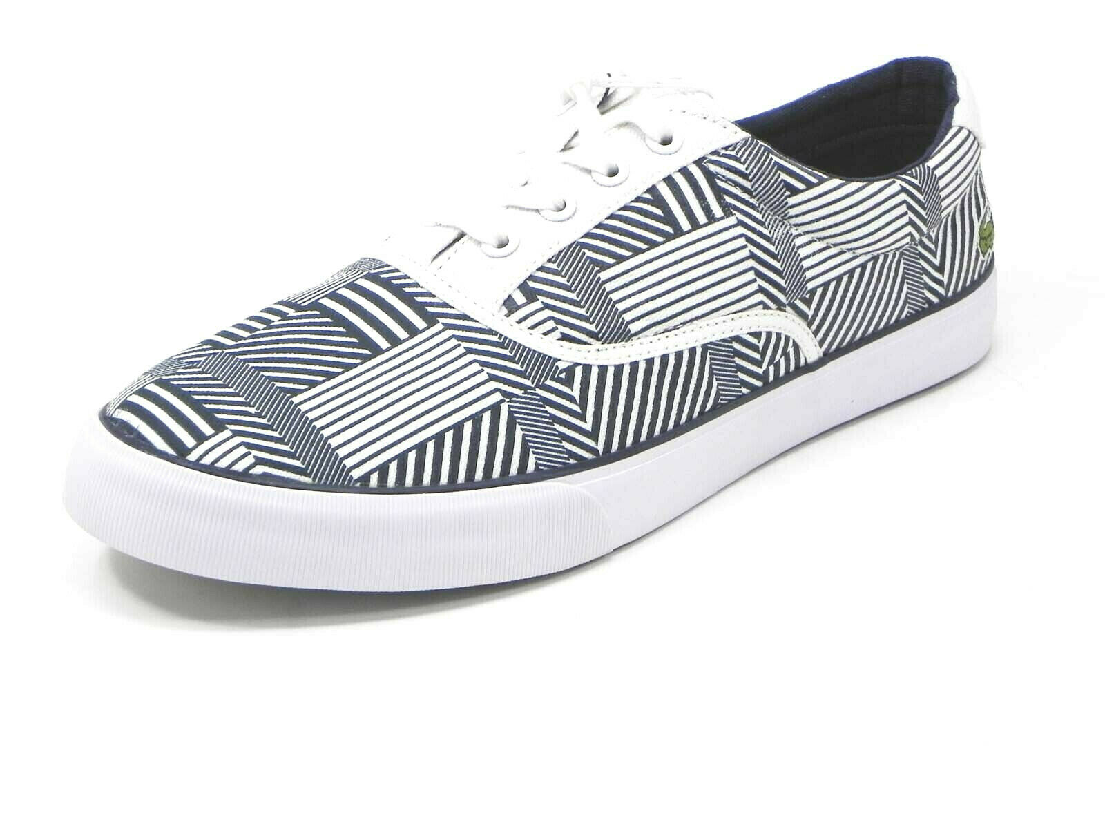 Lacoste Shoes Man Sneakers Canvas Gymnastics n45 Darkblu/Grey Belleveu balances