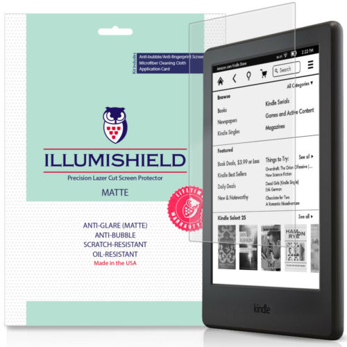 3x iLLumiShield Matte Anti-Glare Screen Protector for Kindle 2016
