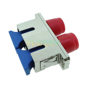 10-PCS-Blue-Metal-Section-of-SC-FC-Duplex-female-to-female-Fiber-Flange-Adapter