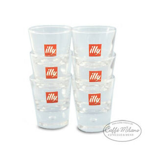 illy espresso glas gl ser shot gl ser 6 st ck caffe milano ebay. Black Bedroom Furniture Sets. Home Design Ideas