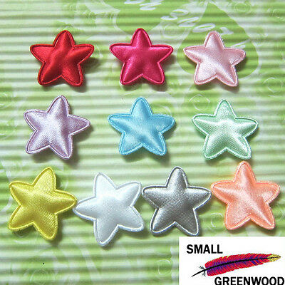 "(U Pick) Wholesale 50-500 Pcs. 1"" Padded Satin Star Appliques S0320"