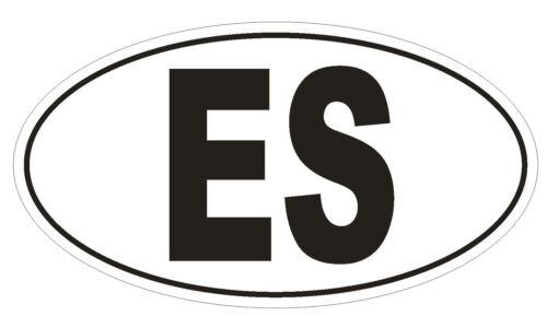 ES Spain Country Code Oval Bumper Sticker or Helmet Sticker D950