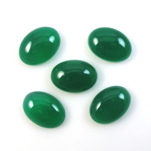 Green Onyx Calibrated Oval cabochon Nice Color Green Onyx Oval Cabs All Sizes