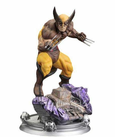 Disfraz De Wolverine Marrón Marvel peligro sala de sesiones Fine Art Statue Kotobukiya