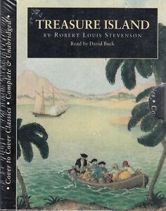 Treasure-Island-Robert-Louis-Stevenson-6-Cassette-Audio-Book-NEW-Unabridged