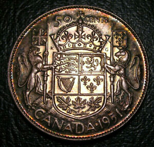 Old-Canadian-Coins-1951-CANADA-FIFTY-CENTS