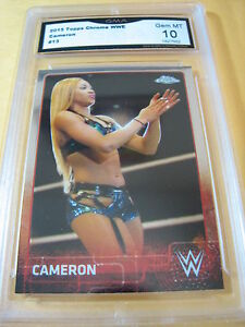 CAMERON-2015-TOPPS-CHROME-WWE-13-GRADED-10-L-K