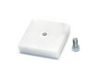 """Size 2/"""" x 3/"""" Handle Beer Tap Base Display Stand w//Bolt Genuine Marble White"""