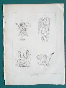 MYTHOLOGY-Furies-Vengance-Deities-amp-Genii-Spirits-of-Death-1804-Antique-Print