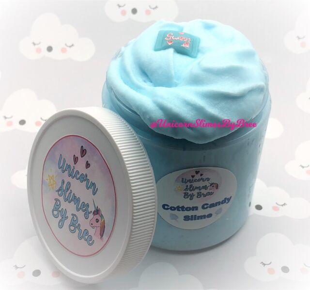 Cotton candy cloud slime pink/&blue 4 oz