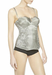 NWT $1500 LA PERLA Push Up BUSTIER CORSET It 3, 36A,USA M Cup A
