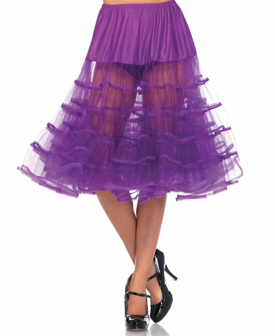 New Leg Avenue 83043 Grape Knee Length Petticoat