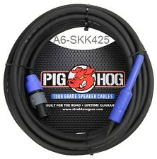 """2-pack Pig Hog 25ft Speaker Cable 14 AWG Neutrik Nl2fx Speakon to 1/4"""" PHSC25S14"""