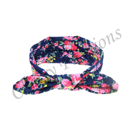 Baby Girls Bunny Cute Kids Turban Knot Rabbit Headband Bow Hair bands Head wrap