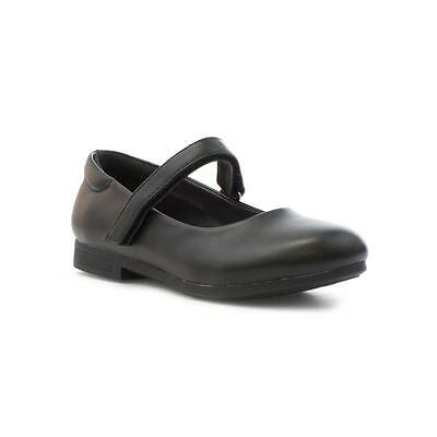 Salir Niñas Negro Mate Bar Zapato-tamaños 4,5,6,7,8,9,10,11,12,13,1,2