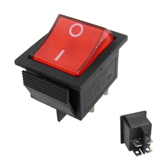 Red switch  LED Lighted illuminated Round Rocker 12V Car Dash Boat x1 UK