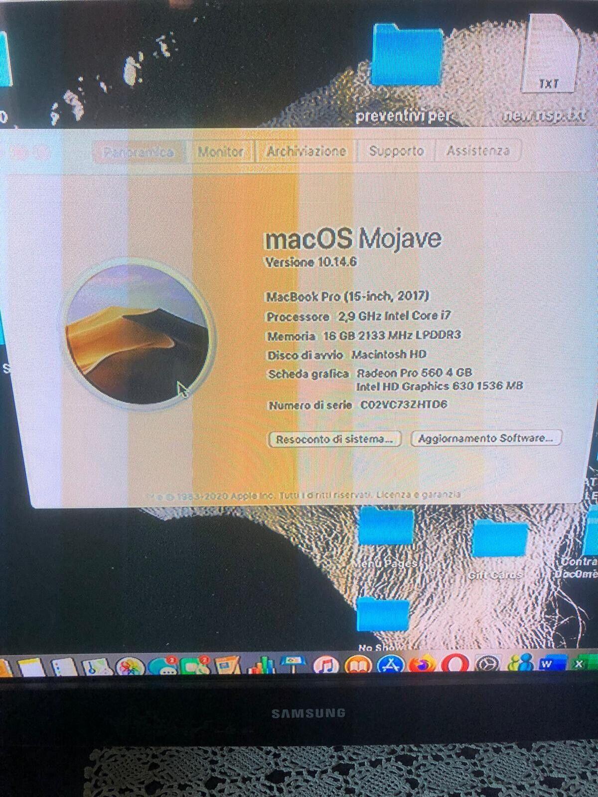 macbook: Macbook Pro 15 2017 500ssd 16gb Ram