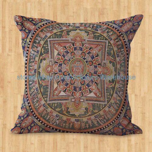 Vendedor dos EUA-Conjunto De 4 Capas De Almofada unidade Harmonia Interior Decoração Mandala