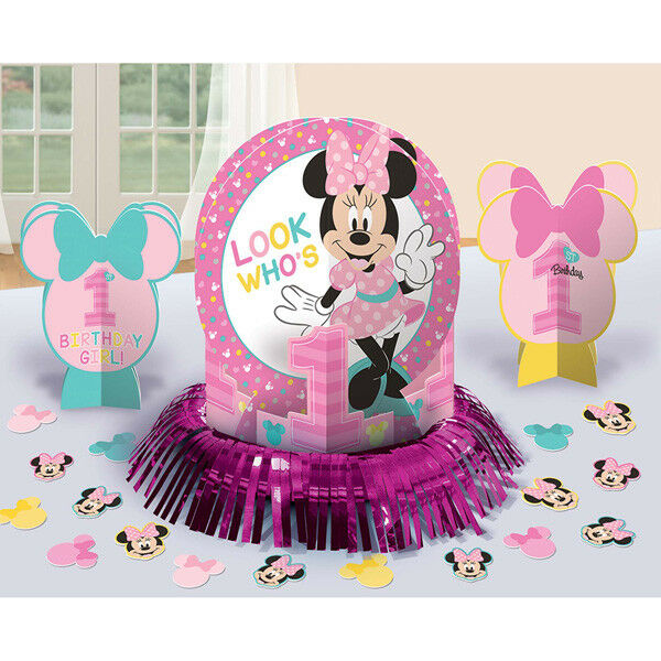 Awesome Disney Minnie Mouse 1St Birthday Party Table Decoration Centerpiece Kit Download Free Architecture Designs Intelgarnamadebymaigaardcom