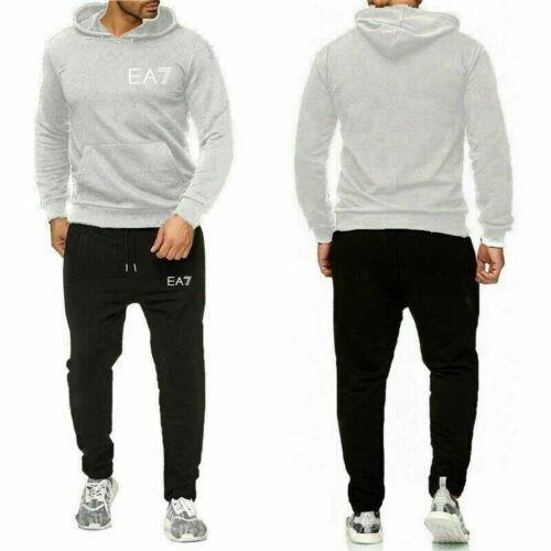 Men/'s Tracksuit Set Hoodies Top Jogger Bottoms Trousers Jogging Sweat Suit Gym