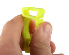 3 Yellow GLOVE GUARD CLIP FOR WORK SAFETY with patented safety break away nb