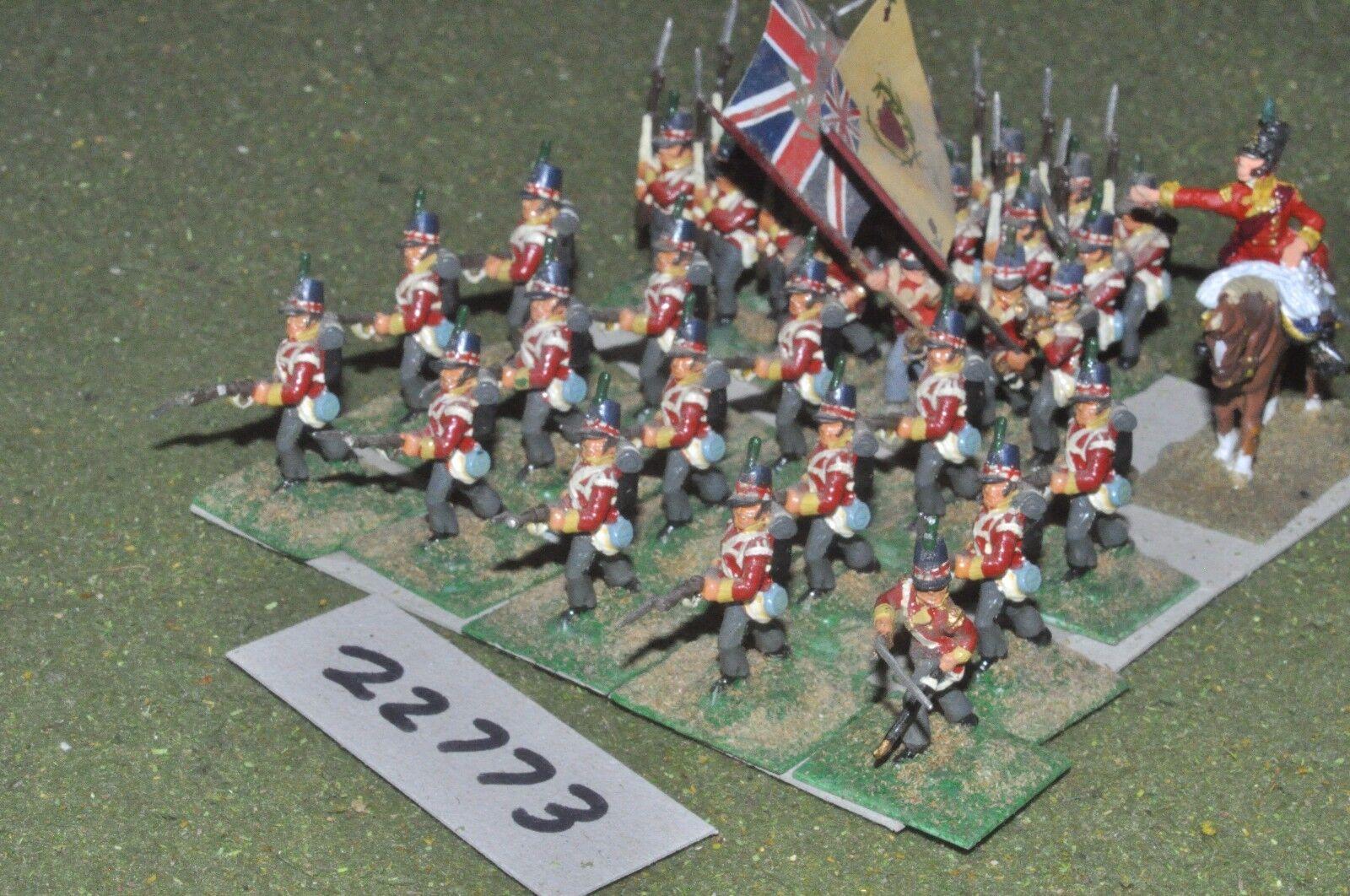 25mm napoleónicas británico escocés 35 figuras-INF (22773)