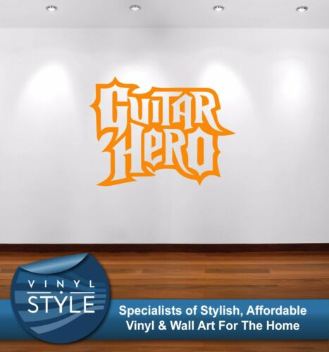 GUITAR HERO LOGO GAME MUSIC WALL ART DECAL DECOR VARIOUS COLOURS