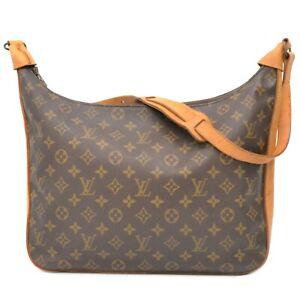 Louis Vuitton Bagatelle M51262 Monogram One Shoulder Hand Bag Purse Brown LV