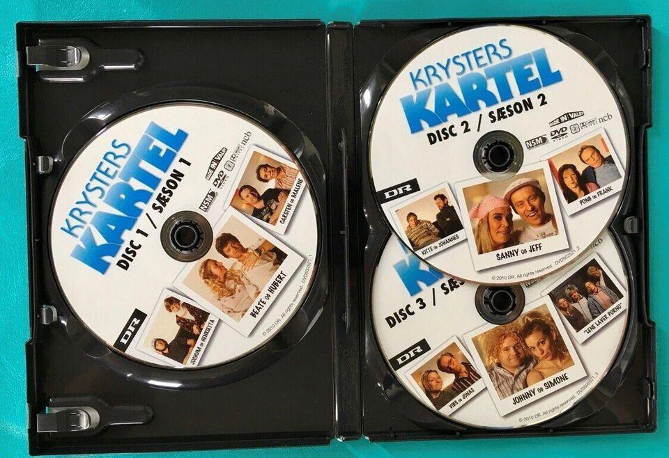 DR-TV: Krysters Kartel 1+2 (3DVD), DVD, TV-serier