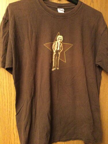 Elton John - (Cowboy Hat).  Brown Shirt.  XL.