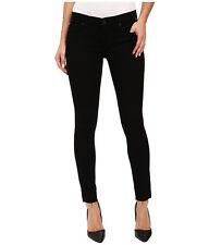 NEW Hudson Krista Ankle Super Skinny Black Denim Jean Raw Hem Jeans 26