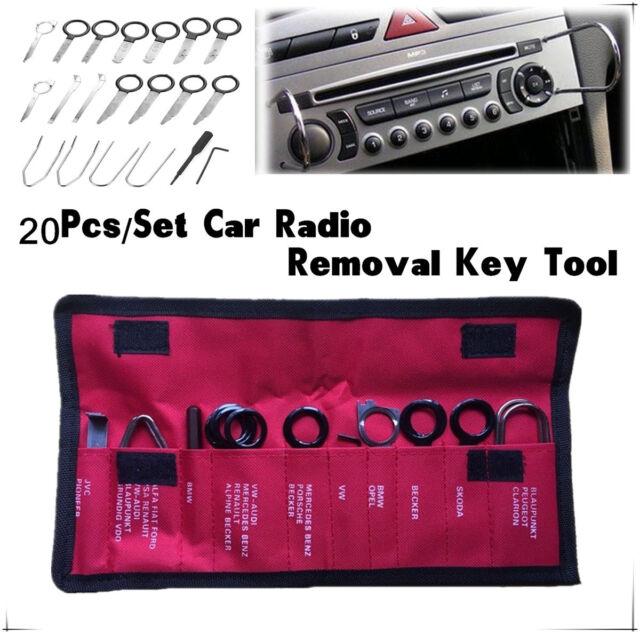 20PCS CAR RADIO REMOVAL KEY TOOL SET / KIT AUDIO TOOLS KEYS STEREO CD UNIVERSAL