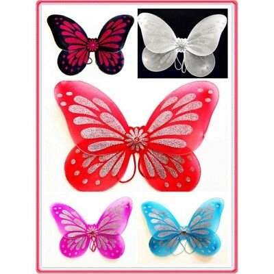 New Black Adult Fantasy Butterfly Fairy Wings Tinkerbell Women Costume Accessory