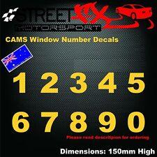 Cams Window Number Racing Rally Drift Race Car Street Sticker Decal Motorsport
