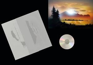Step-by-Step-Airbrush-Schablone-Stencil-0578-Landschaft-1-amp-Anleitungs-CD