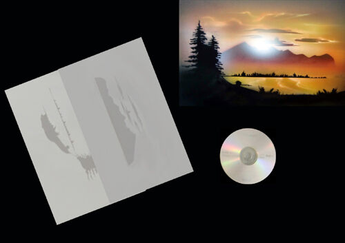 Airbrush Schablone Stencil 0578 Landschaft 1 /& Anl.CD Step by Step