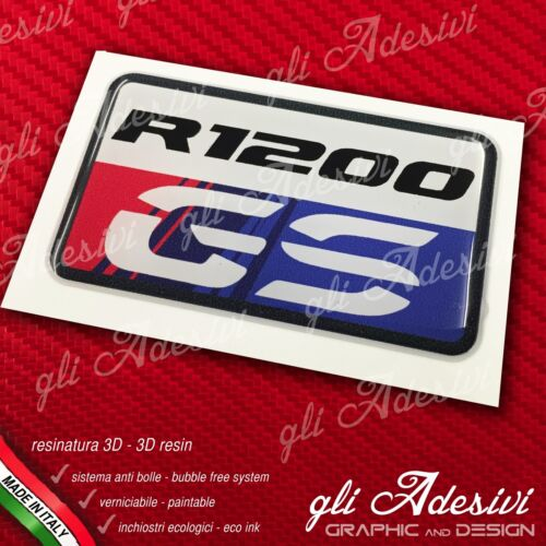 1 Adesivo Stickers 3D resinato BMW GS R 1200 30 Years Anniversary LC 3