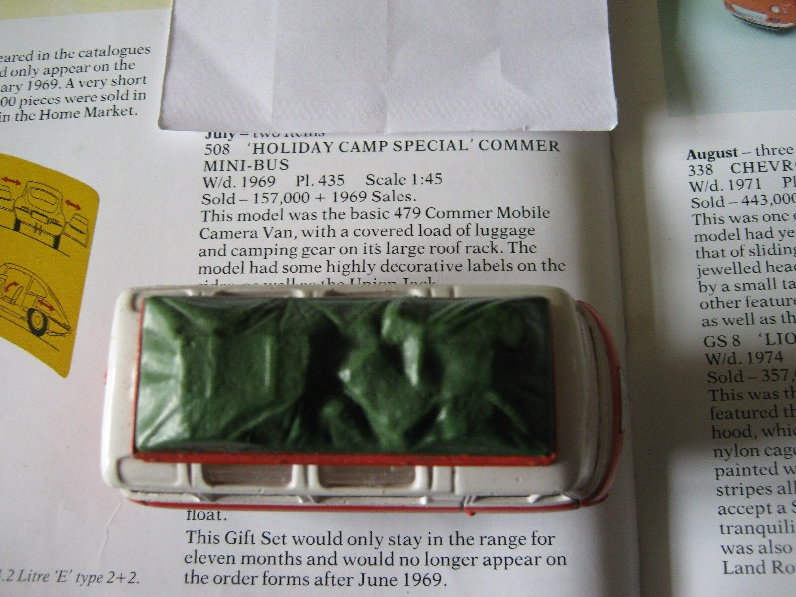 CORGI 508 COMMER HOLIDAY CAMP BUS ALL  ORIGINAL VERY GOOD VAN & VERY GOODORIGBOX
